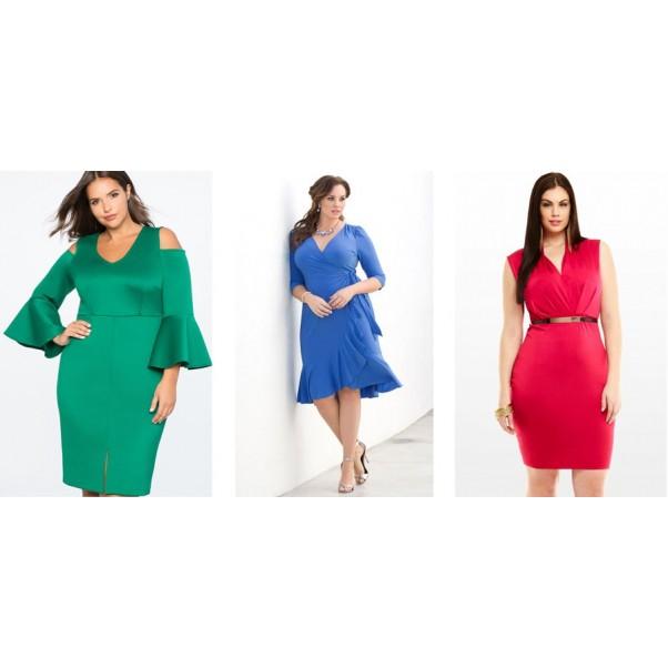 Как да скриете недостатъците на пълната фигура с рокля?