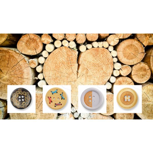 Какво представляват естествените дървени копчета?