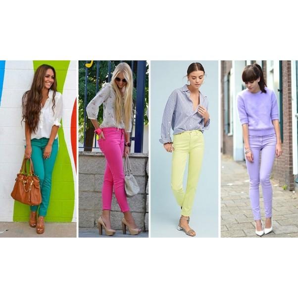 Цветни панталони: вдъхновение от 90-те!