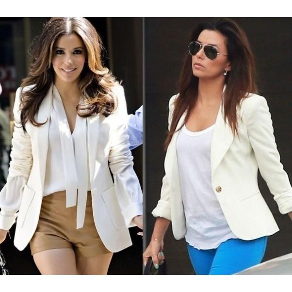 Модерни комбинации с бяло сако