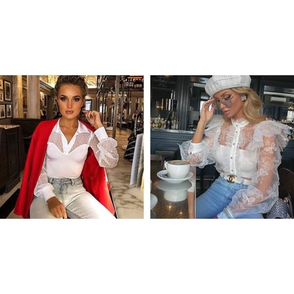 Прозрачна блуза: как да я носим и с какво?