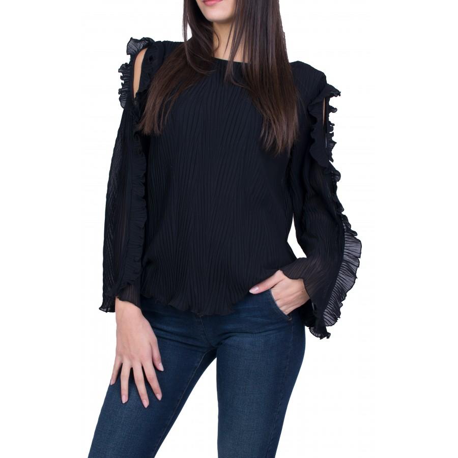 Черна Дамска Блуза Солей 20536 / 2021