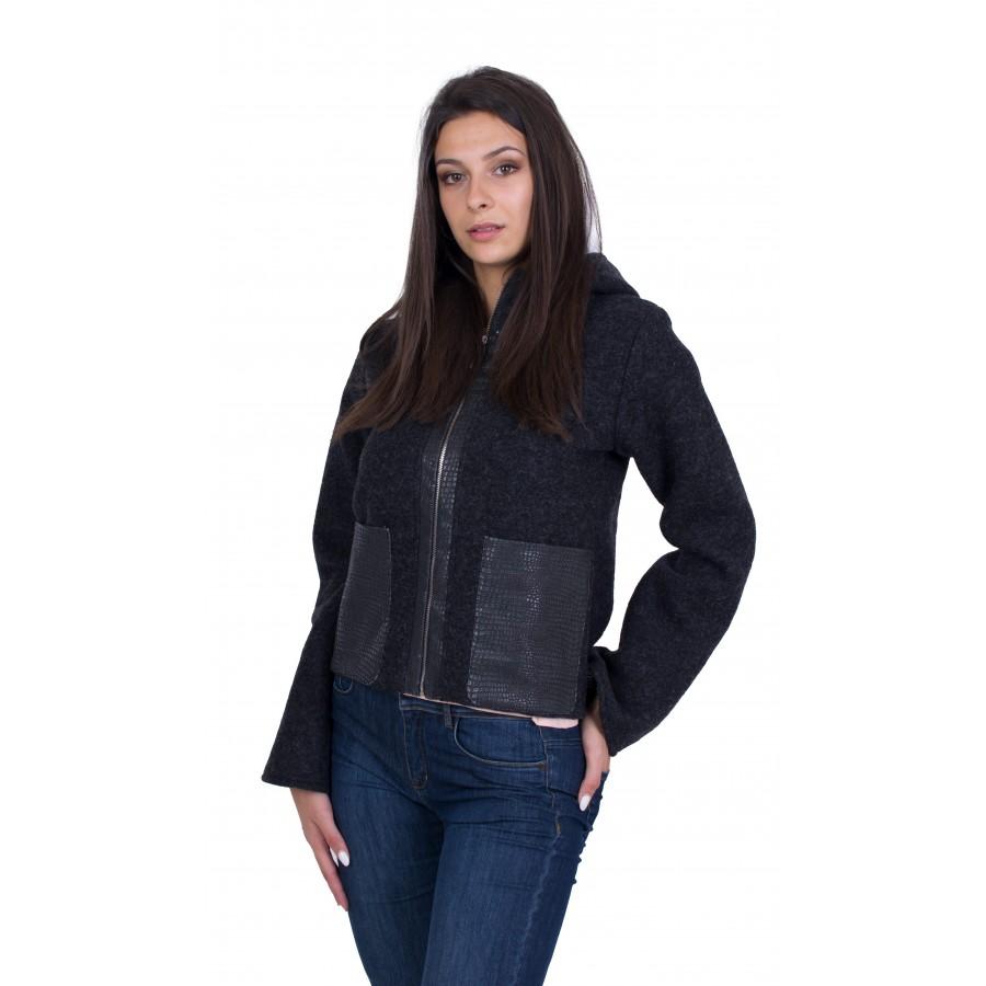 Black Women's Short Coat J 20507 / 2020