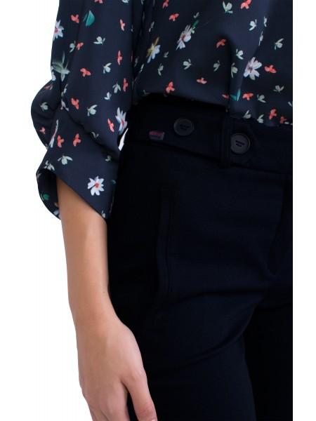 Дамски Официален Черен Панталон 20534 / 2021