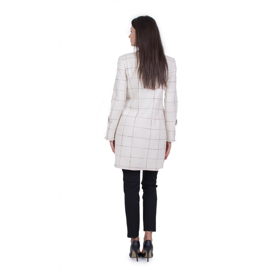 Дамско Палто на Едро Каре 21509