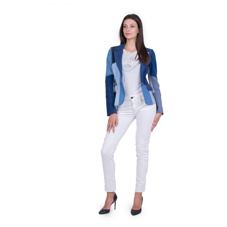 Дамски Сет с Бял Панталон 21507 - 167 / 2021
