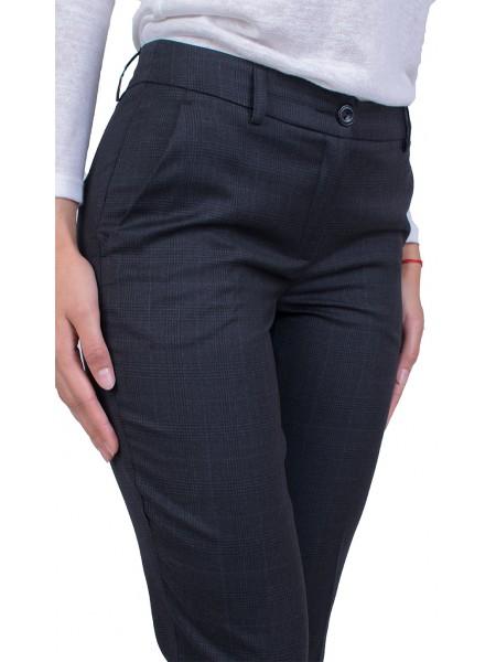 Черен Официален Панталон Каре 21519 / 2022