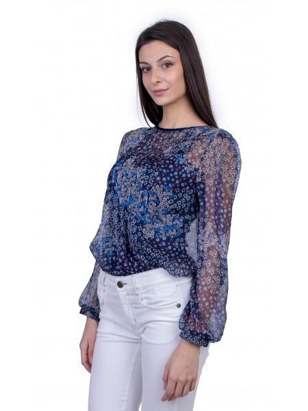 Официална Дамска Блуза от Шифон 21135 / 2021