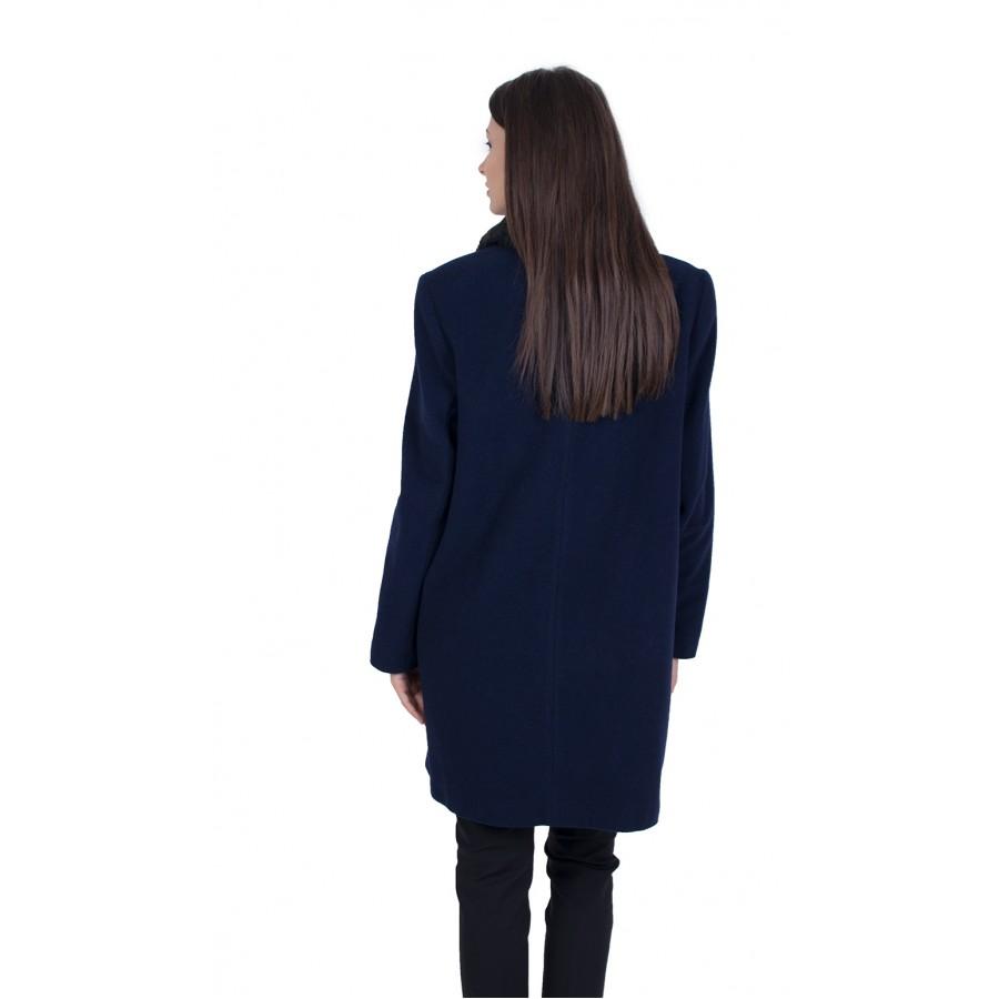 Тъмно Синьо Палто 22801 / 2022