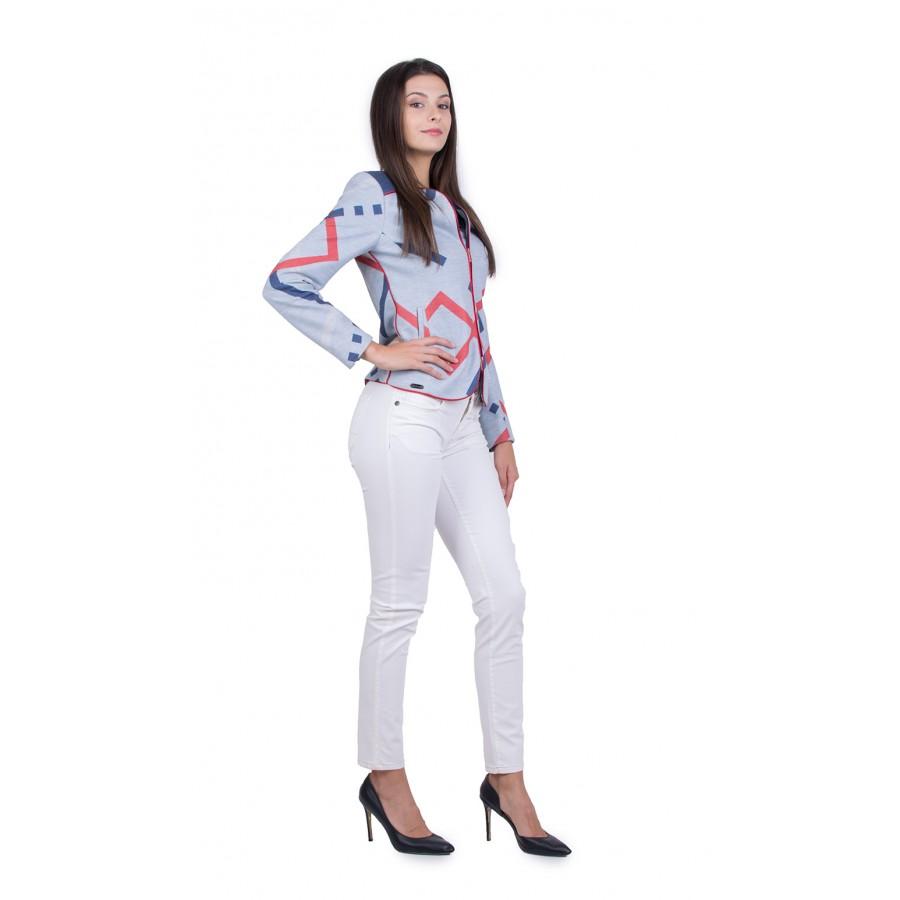 Дамски Костюм с Бял Панталон JN 20147 - 167 / 2020