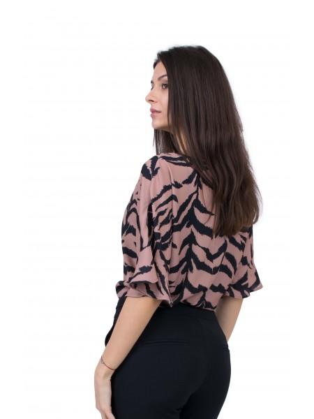 Дамска Блуза с Къс Ръкав B 20120 / 2020