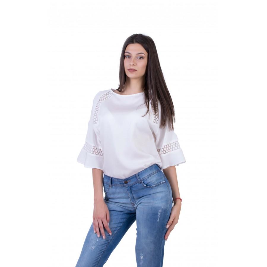 Дамски Комплект от Блуза с Дънков Панталон 20178 - 166 / 2020