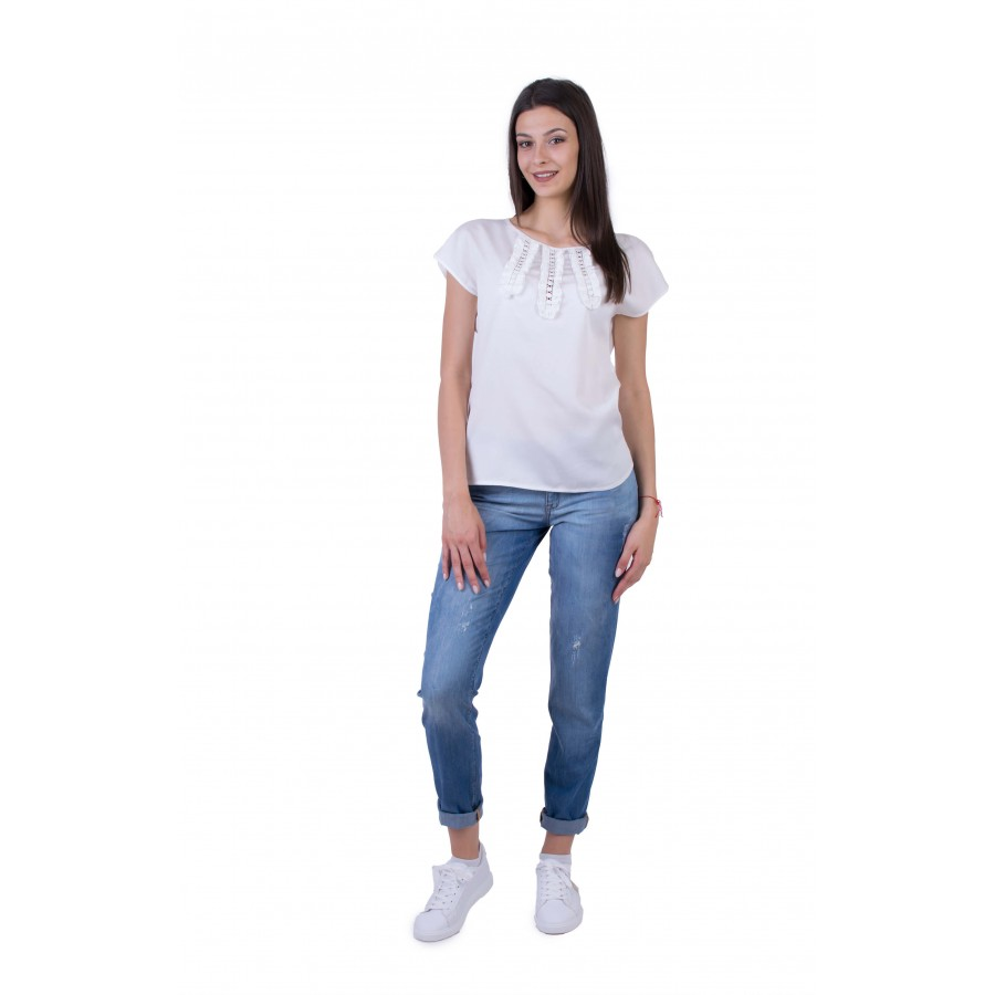 Women's Blouse Set with Denim Pants BN 20182 - 234 / 2020