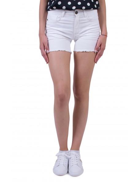 Бели Памучни Къси Панталони N 20187 / 2020
