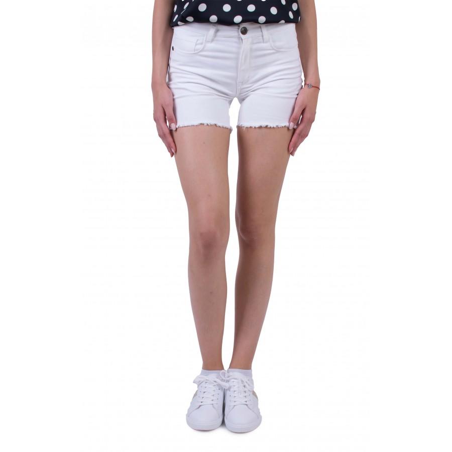 Бели Памучни Къси Панталони в Класическа Визия N 20187 / 2020