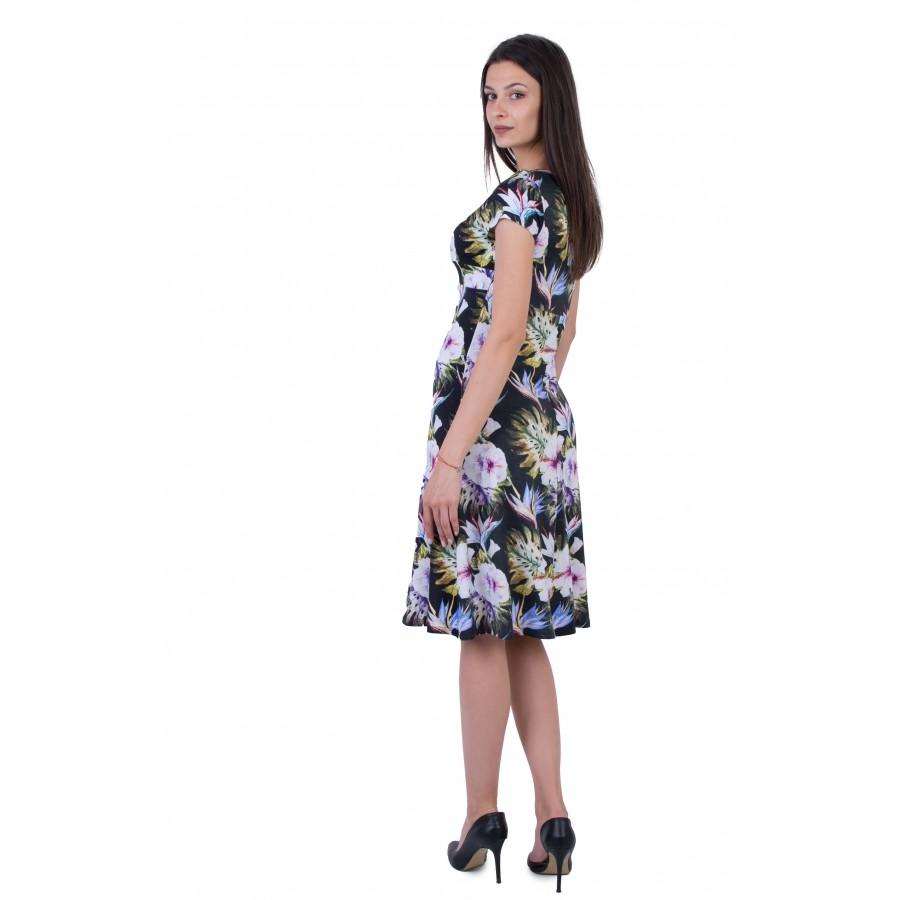 Дамска лятна трикотажна рокля  R 20179 / 2020