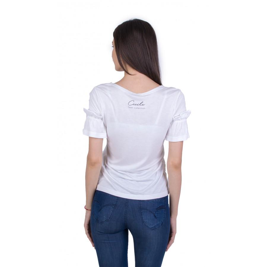 Дамска Тениска с Къс Ръкав B 21174 WHITE / 2021