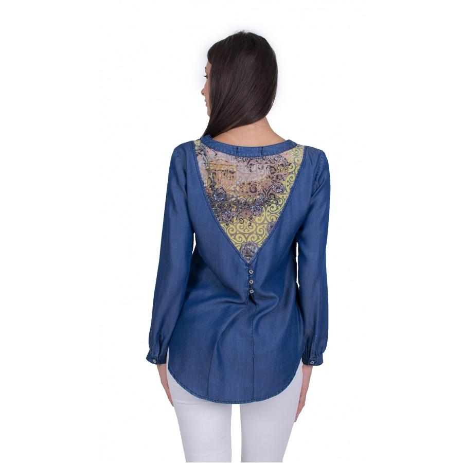 Дамска Блуза с Дълъг Ръкав 21508 / 2021