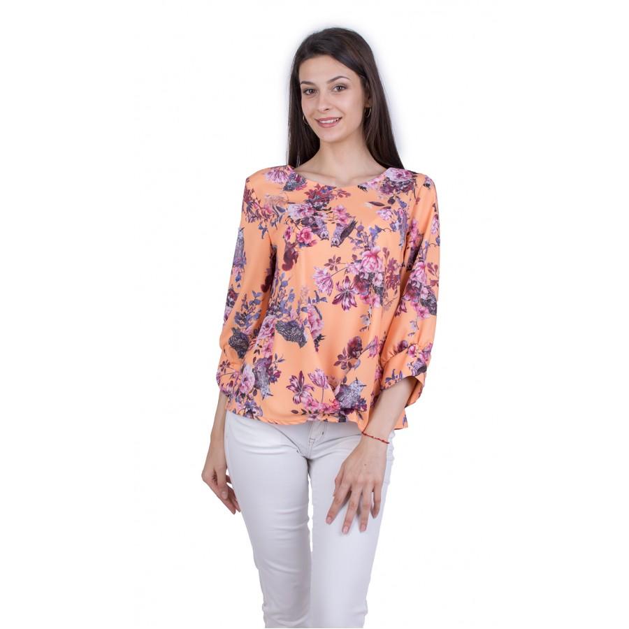 Дамски Аутфит от Блуза с Бял Панталон 21809
