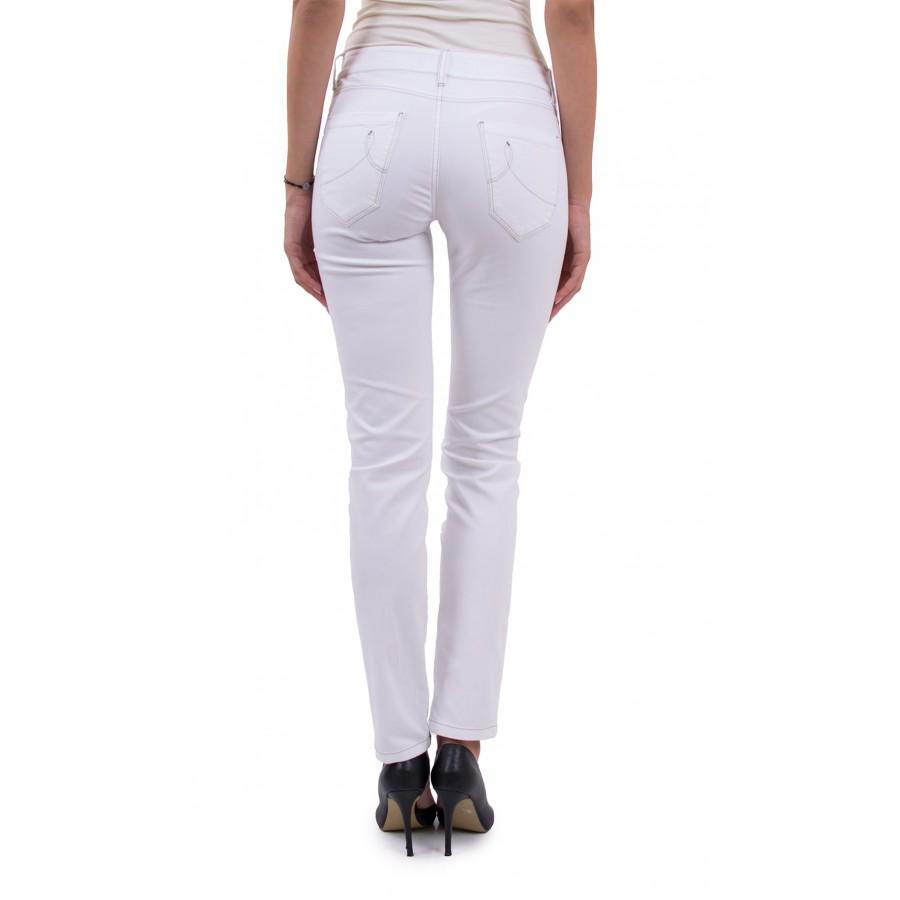 Дамски Аутфит от Блуза Резида с Бял Панталон 21810