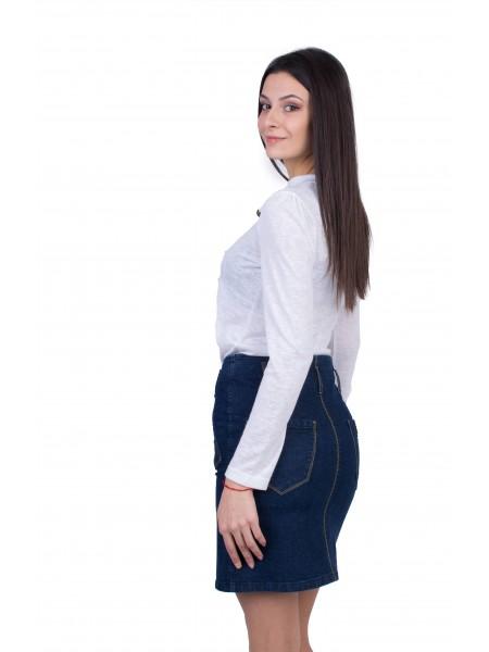 Дамски Комплект Блуза с Дънкова Пола 20546 - 554 / 2021