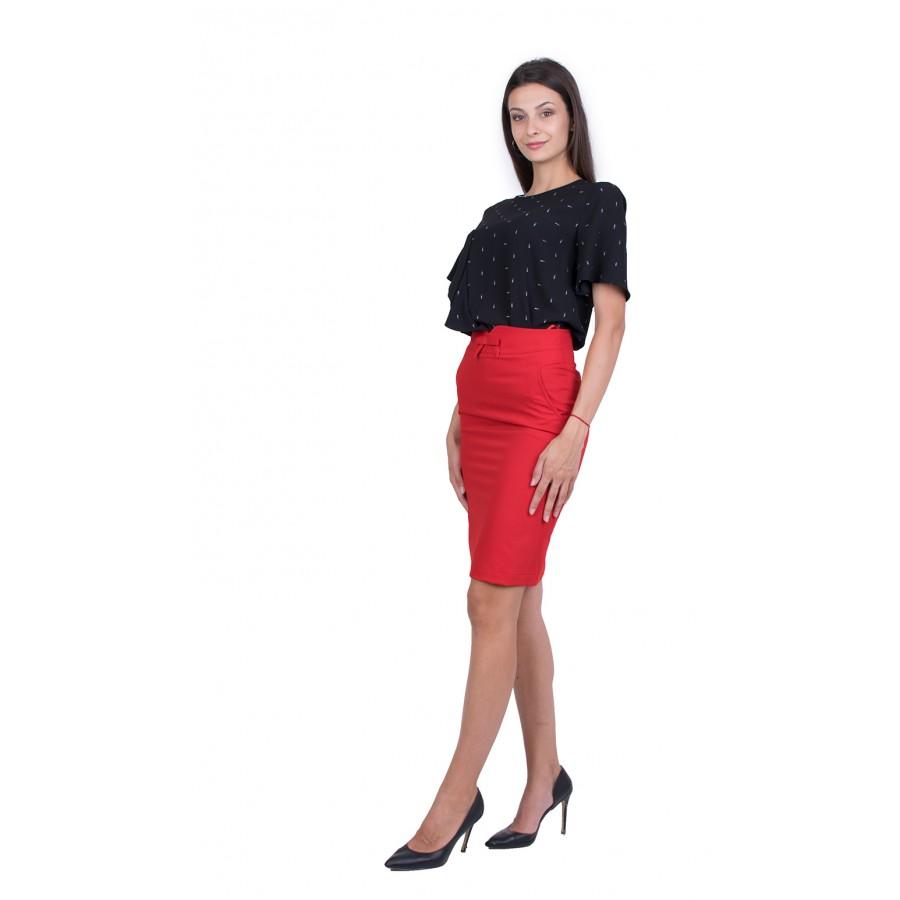 Дамски Комплект с Червена Пола 21111 - 151