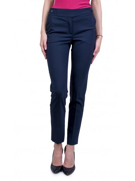 Тъмно Син Дамски Класически Панталон 17503 BLUE