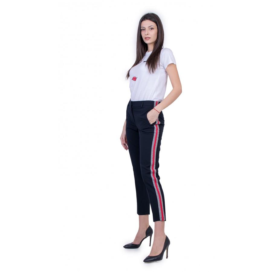 Дамски Черен Панталон с Кант 21123 / 2021