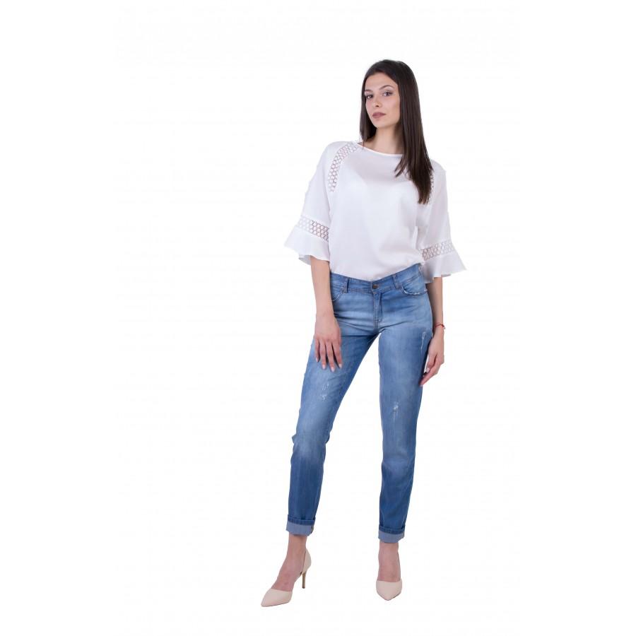 Дамски Комплект от Блуза с Дънков Панталон BN 20178 - 234 / 2020