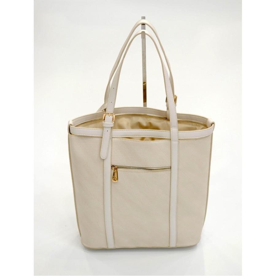 Бяла дамска чанта с дълга дръжка и през рамо BAG 1176 WHITE