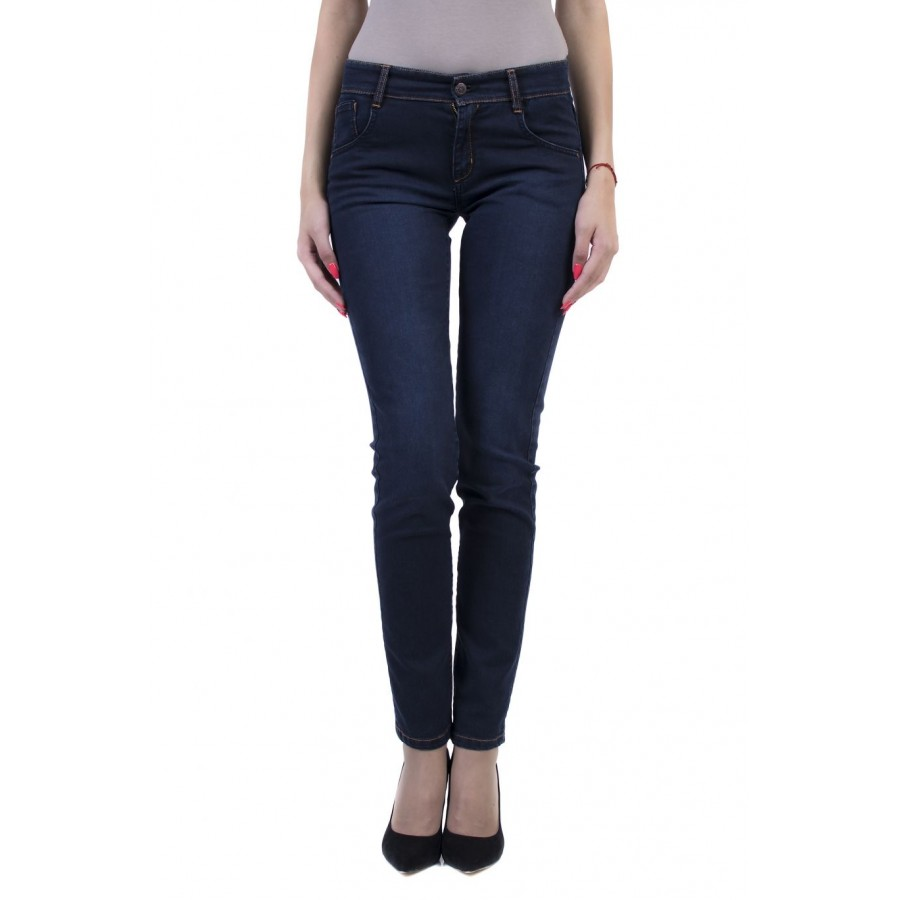 Stylish Women's Jeans with Pleasant Elasticity 17542 A