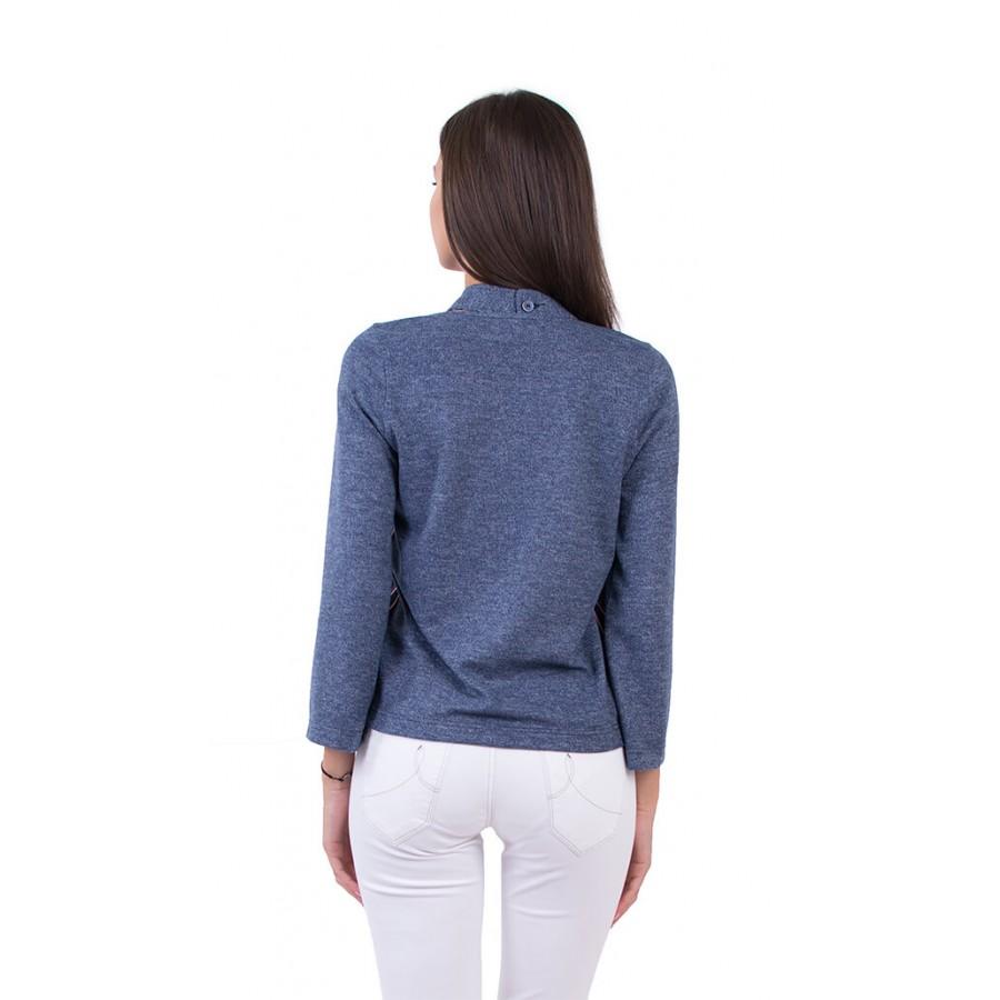 Дамска блуза с дълъг ръкав в синьо B 18538 / 2019