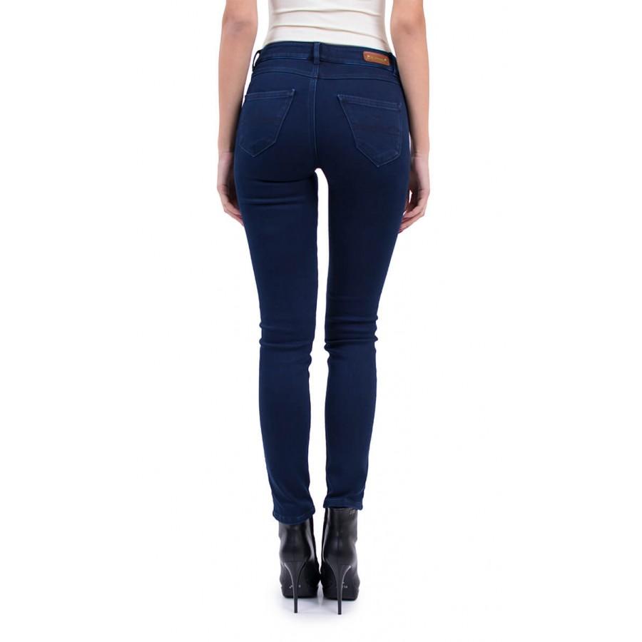Дамски дънков ватиран панталон 9/10 N 18574 BLUE / 2019