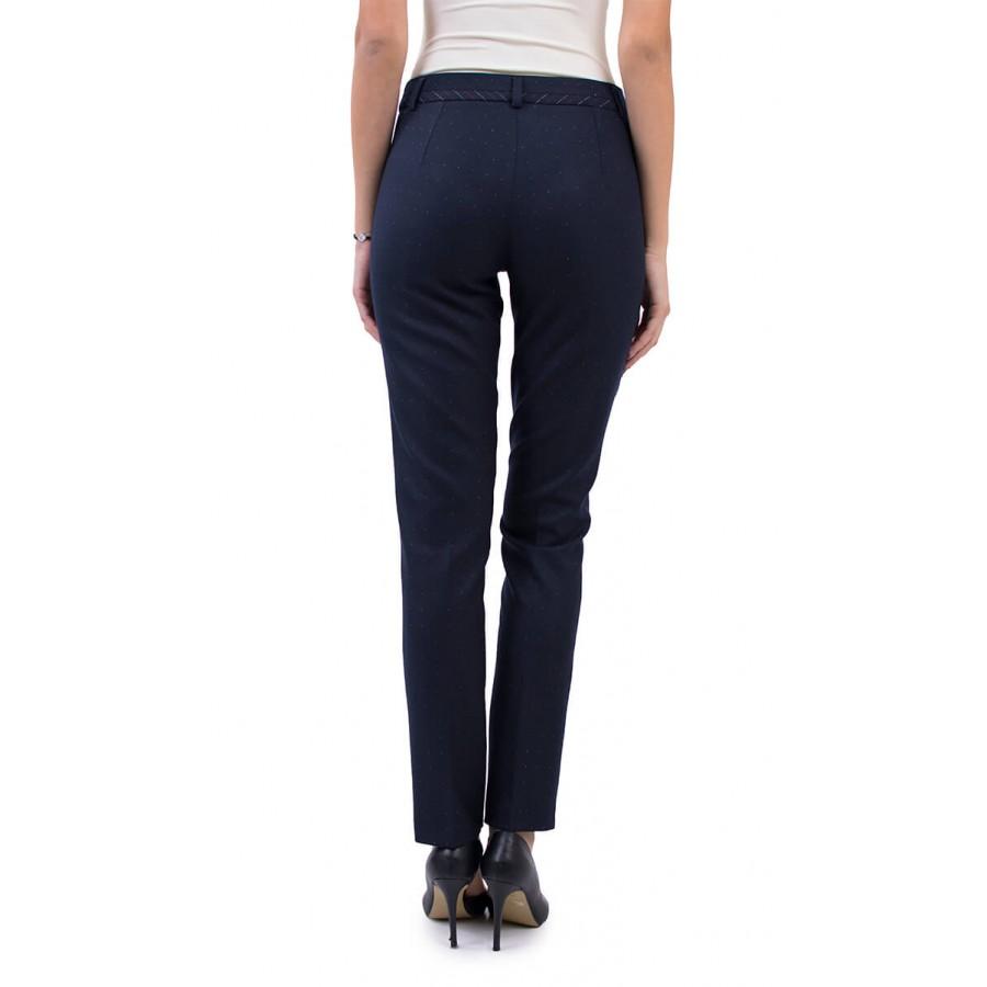 Дамски тъмно син зимен панталон N 18587 / 2019