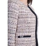 Дамско сако от бежово букле с дълъг ръкав J 19545 / 2019