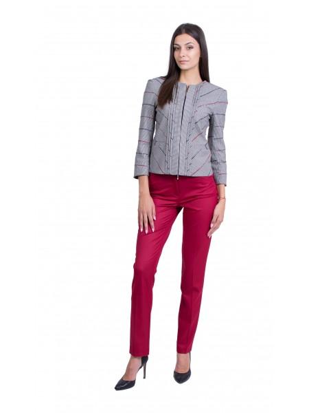 Дамски костюм с Панталон в Цвят Малиново Вино 19501 - 518 / 2020