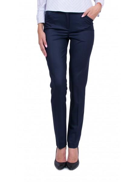 Дамски елегантен тъмно син панталон N 19512 / 2020