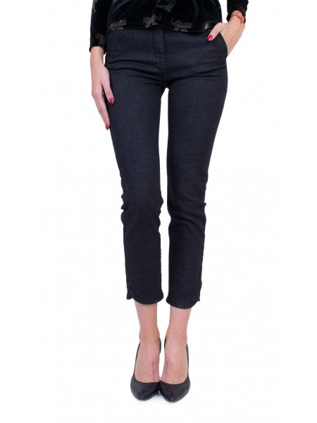 Дамски дънков черен панталон 9/10 N 19555 / 2020