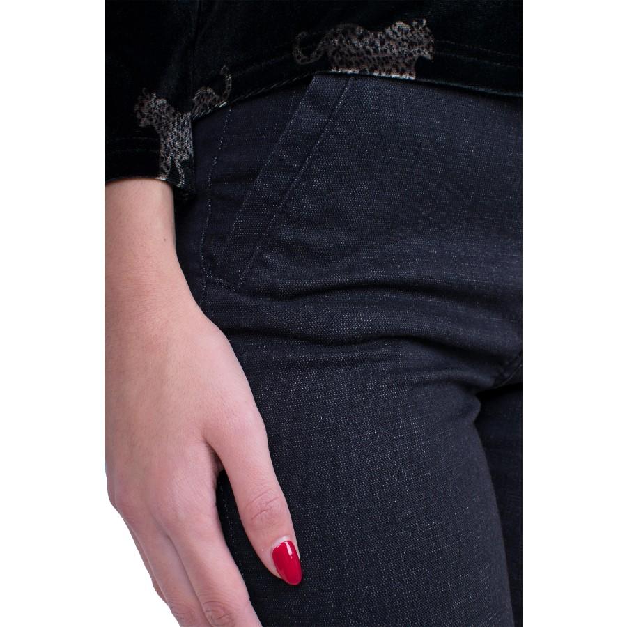 Дамски дънков черен панталон 9/10 N 19555 / 2019