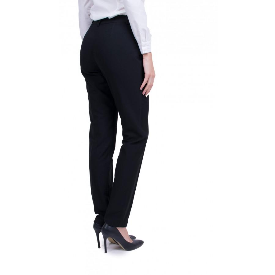 Дамски Черен Ватиран Панталон N 19572 / 2020