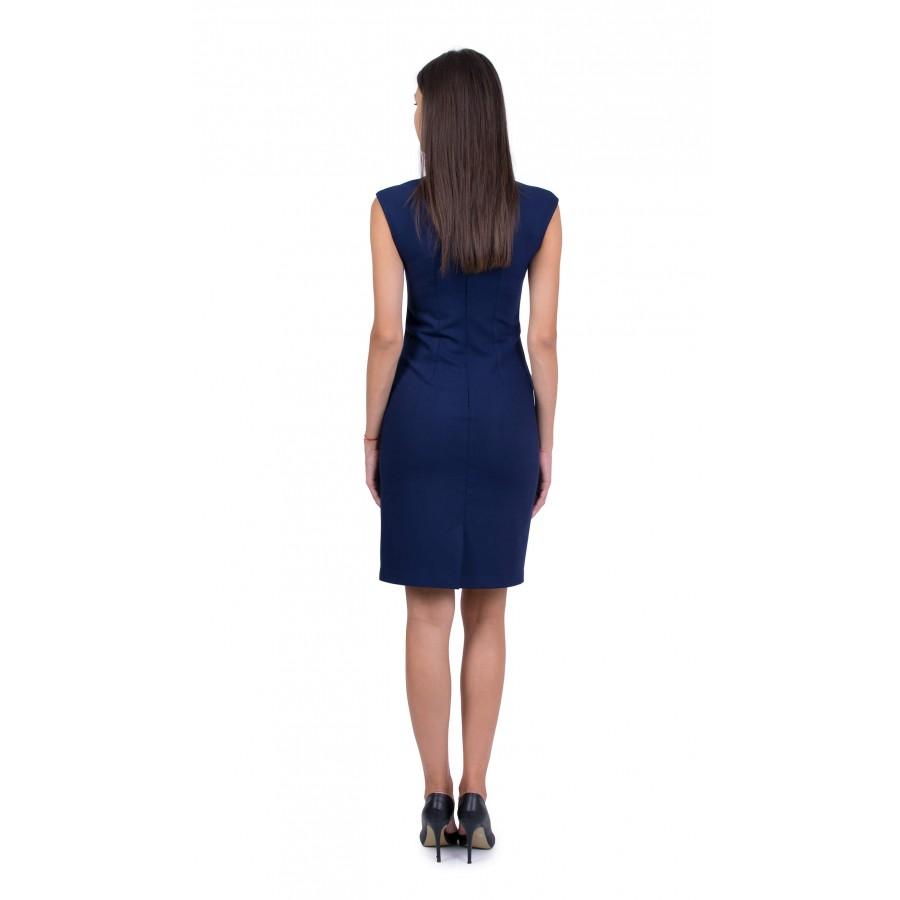 Тъмно синя рокля R 19513 / 2020