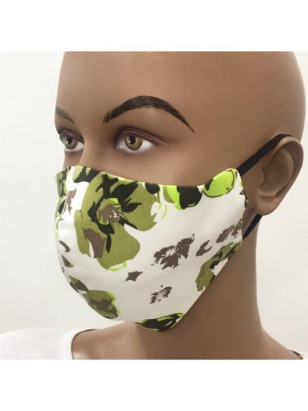 Предпазна Маска от Памучен Плат M 20301 Green