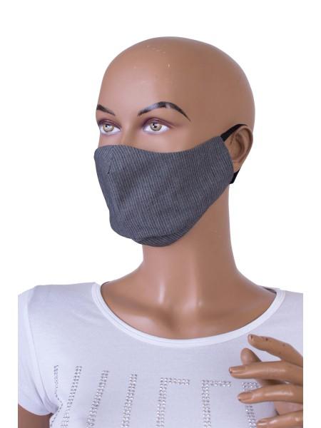 Предпазна Маска за Лице от Памучен Плат M 20306 Grey