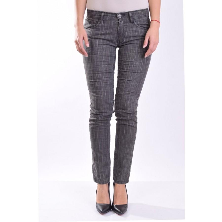 Тъмно сив панталон 16170 от памук  на топ цена