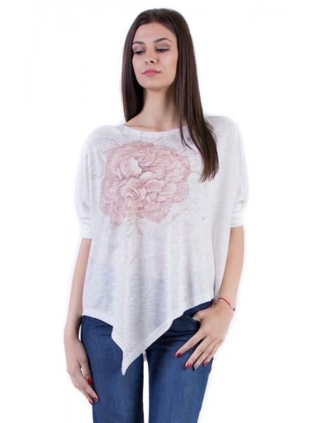Дамска Асиметрична Блуза 17157-s1 3/4 ръкав