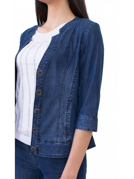 Елегантен дънков комплект от дънково сако с панталон JN 17145 - 116