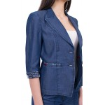Дънков костюм с панталон от летен дънков плат тенсел  JN 17170 - 159