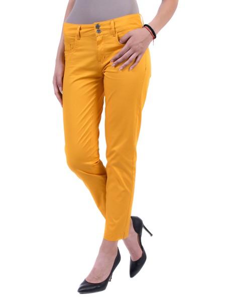 Памучен Дамски Панталон в Наситено Жълто N 17174 Wellow