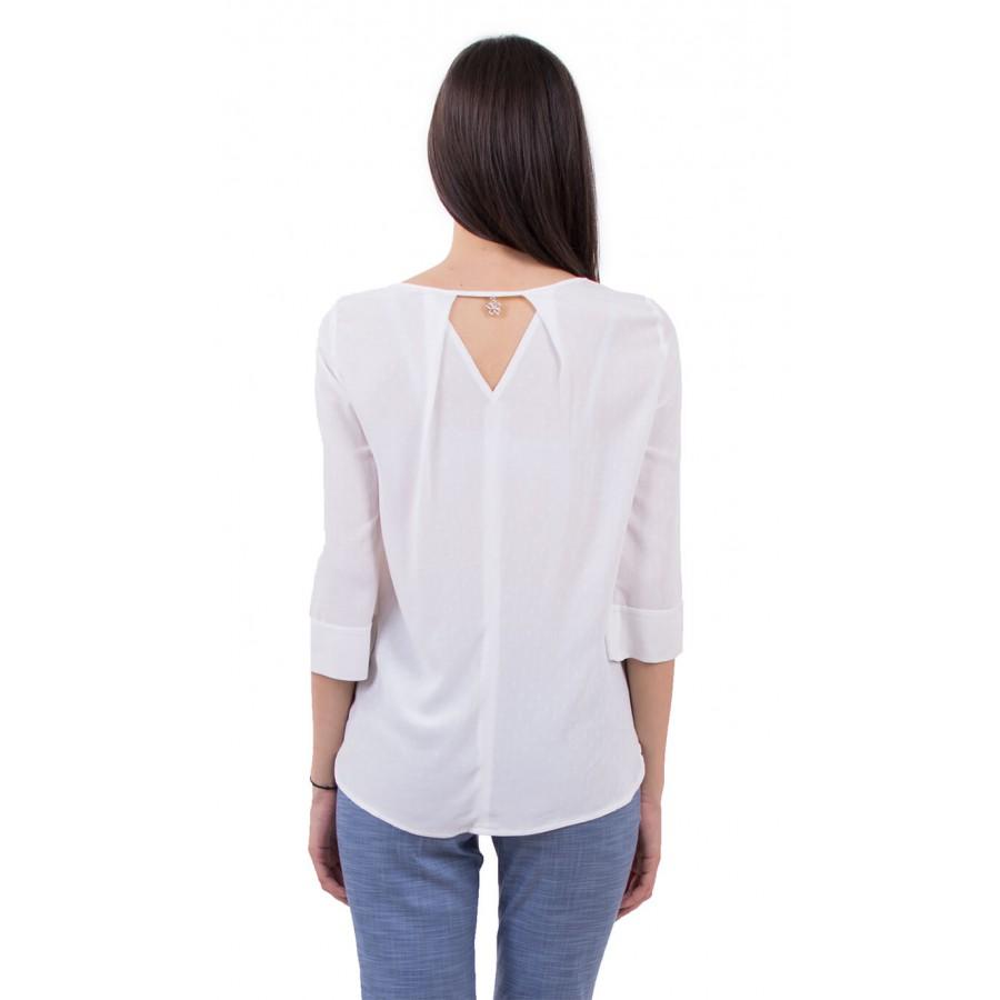 Лятна дамска блуза в светло екрю B 18130 Eckru  на топ цена
