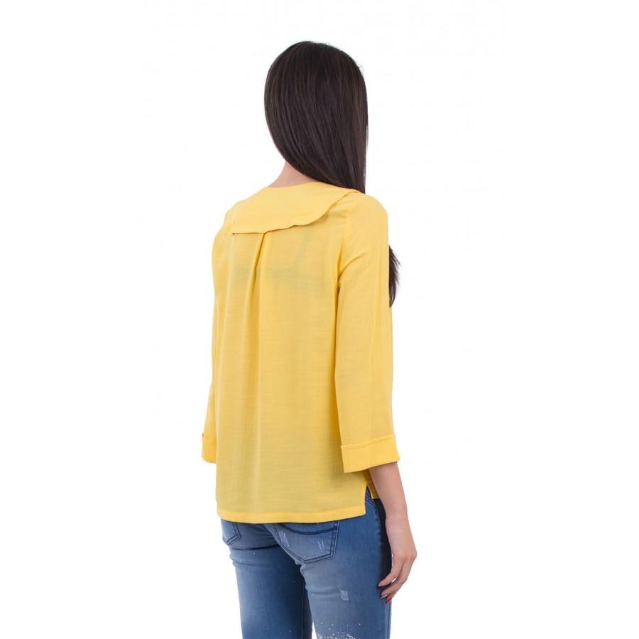 Лятна дамска блуза в жълто B 18132 Yellow  на топ цена